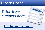 Direct Order - Enter item numbers here