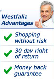 Your Westfalia Advantages: Shopping without risk, 30 day right of return, money back guarantee