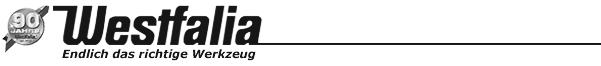 Westfalia Versand - www.westfalia.de - (LOGO) - Endlich das richtige Werkzeug