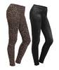 Leggings in Denim look, pack of 2 in black and animal print in various sizes