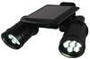 Double LED Solar Spotlight, Dusk Sensor, Motion Detector.