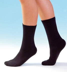 Reinforced Diabetic Socks, black,size 10.5 - 12.5