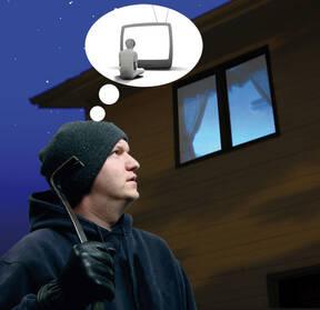 Falsches TV Licht, Haussicherheit und Einbrecher Abwehr