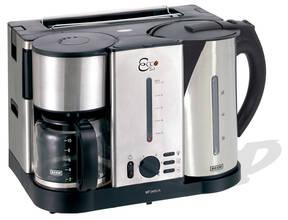 Ecco 3 in 1 Frühstücksset - Kaffeemaschine, Wasserkocher, Toaster