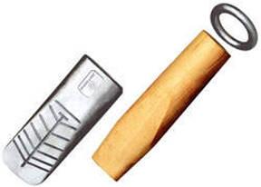 Alu Hohlkeil mit Holz und Ring, glatt