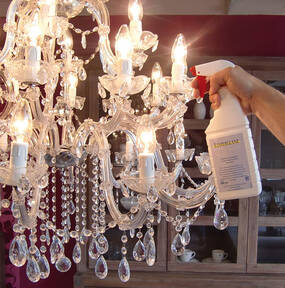 Chandelier Spray - Spray Shine for Glass and Crystal