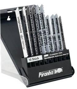 10 tlg. Stichsägeblätter Kassette für Holz + Metall Piranha