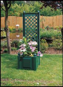 Pflanzkübel mit Rankhilfe - Breite 43 cm- verschiedene Farben - einzeln oder im 2er Set