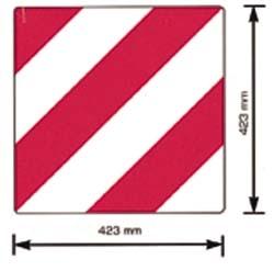 Folienzuschnitt für Warntafel, 423 x 423 mm