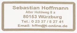 Adress Etiketten Aufdruck goldfarben u. Rand, selbstklebend, 1000 St