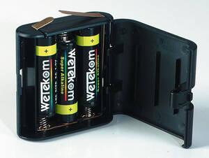 Flachbatterie 4,5V Alkaline im Wechselgehäuse, 1 Stück Wetekom