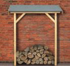 Basis Schleppdach in naturbelassenem Holz für Gartenhäuser Karibu
