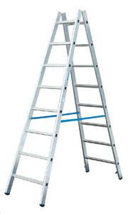 Alu Sprossen Doppelleiter 2 x 10 Sprossen Leiter KRAUSE
