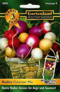 Radies Ostereier Mix - Gemüse Samen Gartenland Aschersleben