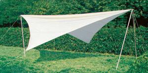 Sonnensegel Set 3 für Camping und Garten, Viere...