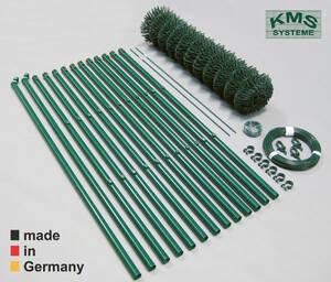 Maschendraht Zaunsets - 25 m Länge - grün RAL 6005 - in verschiedenen Höhen KMS Preisvergleich