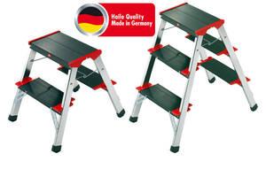 Alu Klapptritte mit 2 oder 3 Stufen - Qualität aus Deutschland Hailo