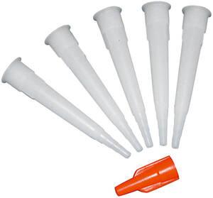 5 Stück: Kartuschenspitze mit Verschluss als Ersatz Henkel