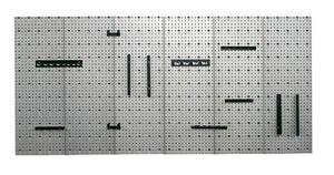 6-teilige Stahlblech Lochwand Preisvergleich