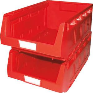 Lagersichtbox, rot - 60 Stück zur Aufbewahrung ...