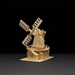 Holzbausatz Windmühle, 25 x 38 cm Pebaro