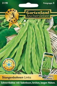 Stangenbohnen Limka, Gemüse Samen - Schwertbohne Gartenland Aschersleben
