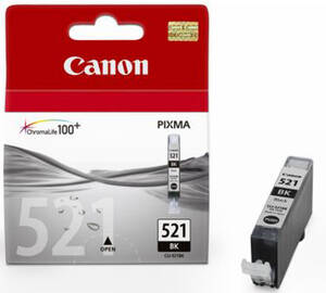 Original Tintentank, Farbe schwarz Typ CLI-521BK Canon Preisvergleich