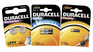 Spezialbatterien: Security, Electronics Duracell