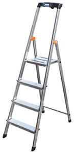 Alu - Stufen - Stehleitern mit Sicherheitsbügel Ablageschale und 4 - 8 Stufen KRAUSE