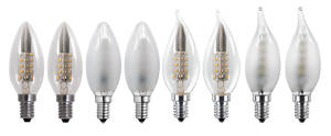 LED Leuchtmittel in klassischer Kerzenform E14 ...