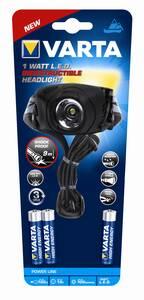 1W LED Indestructible Head Light 17731 Kopflampe inkl. Batterien Varta
