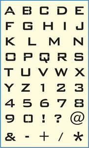 CL - Schablone Buchstaben/ Zahlen Mako