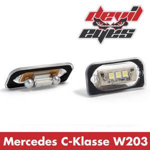 LED Kennzeichenbeleuchtung Mercedes W203 C-Klas...
