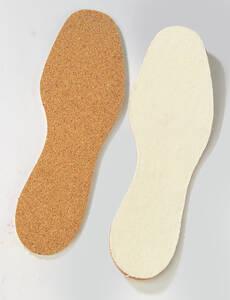Einlegesohle aus Baumwolle und Kork, zuschneidbar von Gr.36-46