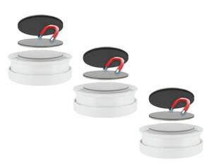 Magnetbefestigungen für Rauchmelder - selbstklebend - 3er Set Preisvergleich