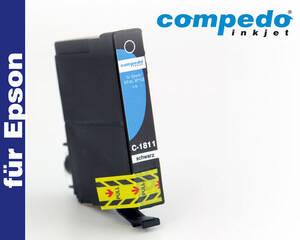 Epson T1801/1811 schwarz Tintenpatrone Compedo