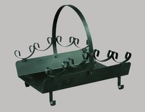 Scheiteträger schwarz Stahl, pulverbeschichtet