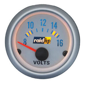 Zusatzinstrument Voltmeter Silver-Line raid hp