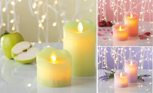 Kerzenzauber LED Echtwachs-Duftkerzen