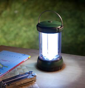 LED Tischlaterne mit 6 LEDs und 3 Leuchtröhren Wetelux