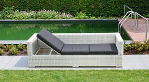 Multi-Sofa HAVANNA mit schwarzen Kissen Farbe white-wash Garden Pleasure