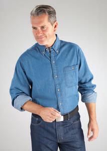 """Jeans Hemd """"Arizona"""", langarm, jeansblau, mit """"Button Down Kragen"""", ve Preisvergleich"""