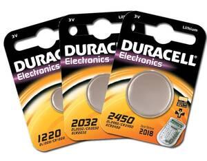 Lithium Knopfzelle 3 Volt verschiedene Ausführungen Duracell
