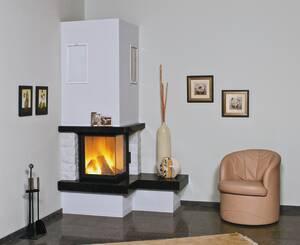 Heizkamin Nebraska Bank rechts Zeitbrand 4-8 kW royal-black natur Hark