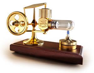 Heißluft-Stirlingmotor vergoldet, funktionsfähiges Modell Preisvergleich