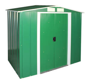 Metall Gerätehaus Eco 6x4, grün, mit Giebeldach...