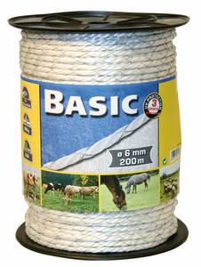 Westfalia-Das Spezialversandhaus E Seil Basic Classe, 200 m lang, 6 mm breit, 2x0,50 FE verzinkt