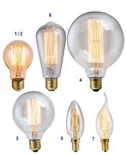 Dekorative Vintage Glühlampen mit Glühfaden Hei...