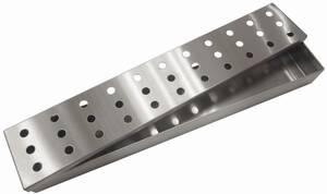 Edelstahl-Aromabox für die Verwendung in Holzkohlen- und Gasgrills Tepro