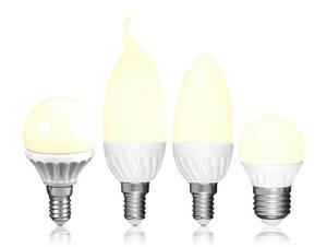 LED Leuchtmittel 3 Watt in Kerzen-, Windstoß od...